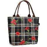 Gloppie Kühltasche Picknicktasche Lunchtasche Mittagessen Tasche Thermotasche Isoliertasche für Lebensmitteltransport 9L, Ros