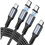 Nimaso Magnetische oplaadkabel, 2 m + 2 m, USB C oplaadkabel 3 A/60 W PD magnetische USB-kabel, datakabel, nylon compatibilit