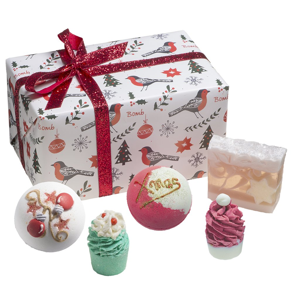 Bomb Cosmetics Robin the Rich Handmade Wrapped Gift Pack [Contains 5-Pieces], 520g