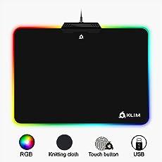 KLIM RGB Chroma Gaming Mauspad - Mouse Pad Büro Zubehör - Gewebe mit Hoher Genauigkeit - Lichteffekte - Verschiedene Moden - Office Gaming Mouse Mat - Gamer Pads Videospiele