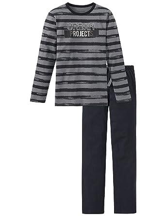 Schiesser Pyjama Grau at Home rootbarrier.co.nz