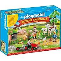 PLAYMOBIL Adventskalender 70189 Auf dem Bauernhof mit zahlreichen Figuren, Tieren und Zubehörteilen hinter jedem Türchen…