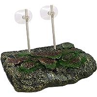 Jainsons Pet Products Floating Rock Turtle Island Reptile Turtle Tank Topper Basking Hanging Platform (Medium) for Small…