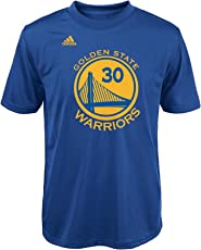OuterStuff NBA Youth Boys 8-20 Curry S Warriors Short Sleeve Player Performance Name and Number Tee
