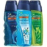 Fiama Men Shower gel Refreshing Pulse 250ml, Fiama Men Shower gel Cool Burst 250ml, Fiama Men shower Gel Quick Wash 250ml, Co