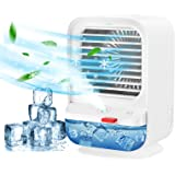 Mini Ventilateur, Sholov Climatiseur Portable Refroidisseur d'air 4 en 1 USB Ventilateur de Climatisation Humidificateur 3 Vi