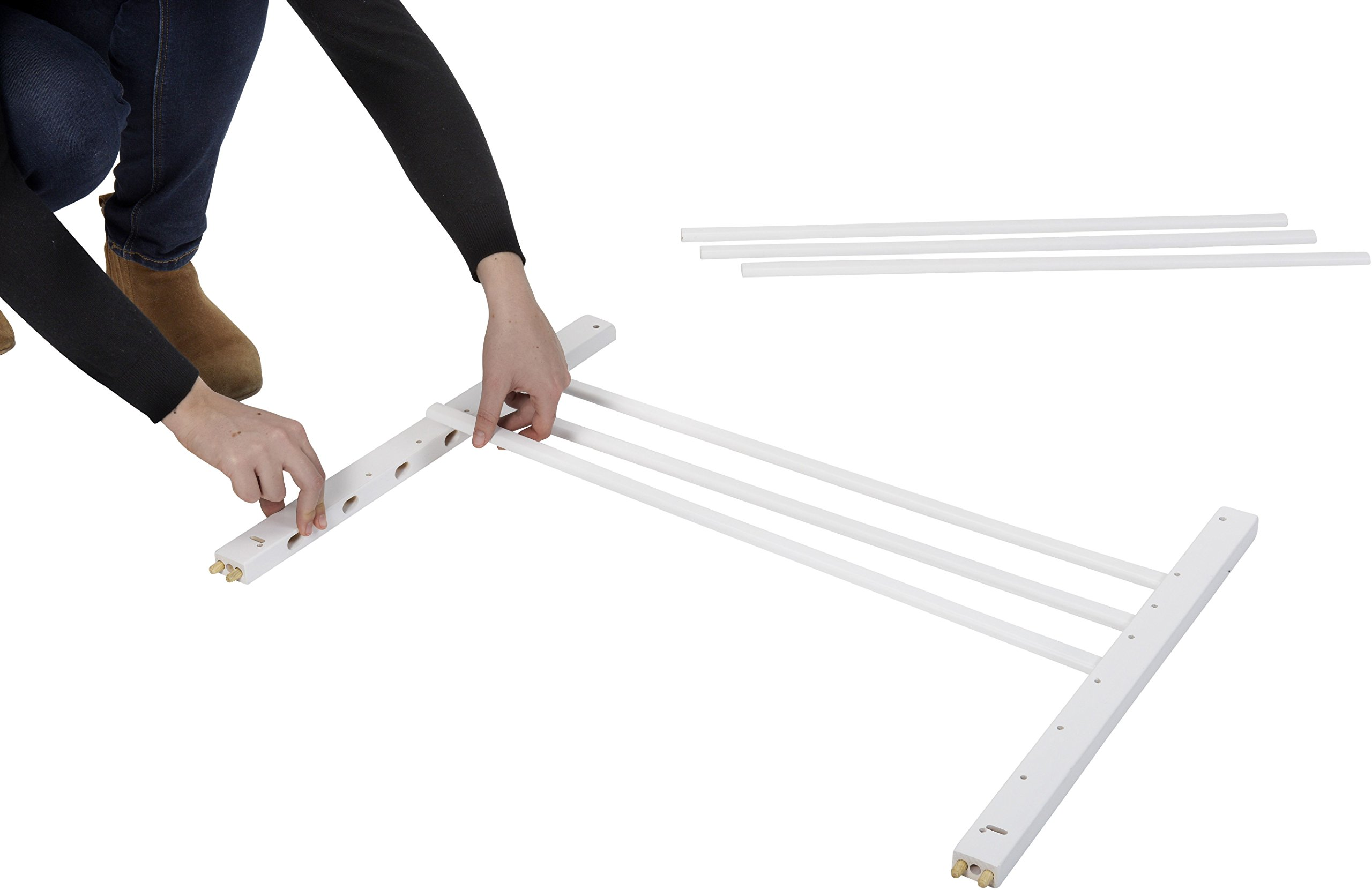 Badabulle Color Pop Safety Gate, White Badabulle Wooden safety gate for self-assembly Easy to open Swinging door 3