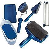 Rouleau de peinture anti-goutte - Rouleau de peinture pour murs et plafonds - Rouleau rechargeable avec réservoir et bâton ex