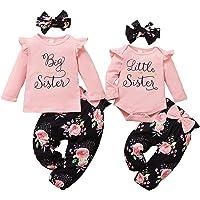 WeoTca Soeur Vêtements Assortis Enfant Bébé Fille Ensemble de Vêtements Grande Petite Soeur Assortis Ensemble de…