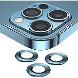 SAEYON Skärmskydd för kamera av härdat glas för Apple iPhone 12 Pro Max 16,7 tum, 360° fullt skydd aluminiumlegering kamerali