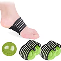 2 Pairs Extra Thick Cushioned Compression Arch Support with More Padded Comfort for Plantar Fasciitis, Fallen Arches…