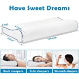 Owme Memory Foam Cervical Contour Medical Pillow for Sleeping Orthopedic Pillows for Neck Back Pain