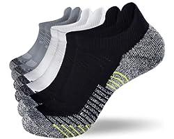 Fioboc 6 Pairs Sport Socks for Men Women Running Ankle Socks Low Cut Trainer Socks Performance Compression Athletic Socks
