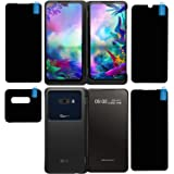 FCS Anti Shock Armour Impossible Fiber Glass Flexible Screen Protector Guard for LG G8x ThinQ | 4 Pc. Set | All Screens…