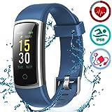 LATEC Orologio Fitness Tracker Android iOS Cardiofrequenzimetro Monitor per la Pressione del Sangue Impermeabile IP68 Smartwatch Sportivo Contapassi Calorie Bici per iPhone Xiaomi Samsung Huawei