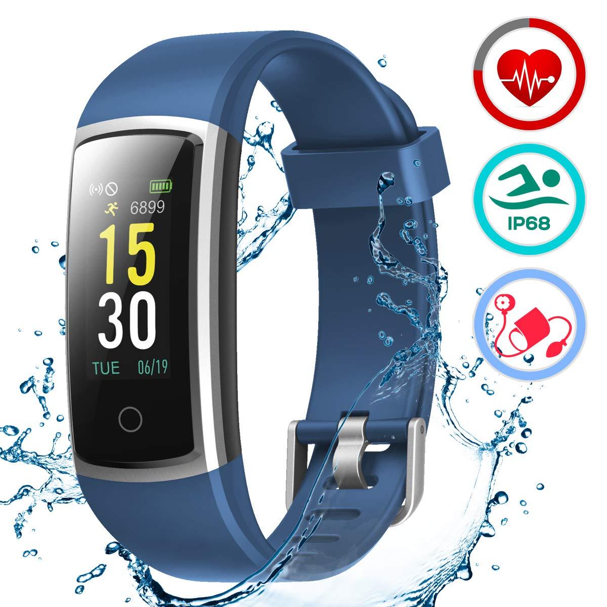 LATEC Pulsera Actividad Inteligente Pulsómetro y Presión Arterial Relojes Deportivos Ejercicio Fitness Impermeable IP68… 1