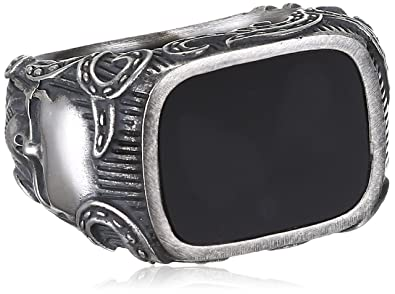 Herrenring  caï men Herren-Ring Rockabilly 925 Sterling Silber: Amazon.de: Schmuck