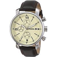 Fossil Analog Off-White Dial Men's Watch-BQ1007