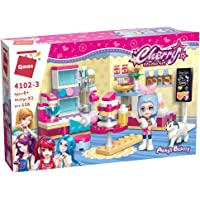 Qman Building Block Abby?s Bakery Building Block for Girls 6-12 Age (126 Pieces)