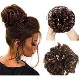 Mode Menselijk Haar Vrouwen Haar Paardenstaart Haarverlenging Bun Haarstukje Scrunchie Elastische Bruiloft Golf Krullend Donk