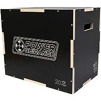 Power GUIDANCE 3 in 1 - Scatola per saltare Plyometric in legno, per allenamento e condizionamento, 75/60/50 cm, 60/50…
