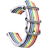 OLLREAR Nylon Cinturini Orologi Tela di canapa Orologi Bracciale Militari Esercito Cinturino - 9 Colors & 3 Sizes