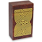Logica Juegos Art. Cofre Laberinto - Rompecabezas de Madera - Caja Secreta - Dificultad 5/6 Increíble - Colección Leonardo da