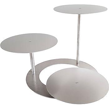 tortenst nder aluminium rund tortenetagere treppe etagere hochzeit 3 etagen aluminiumplatten. Black Bedroom Furniture Sets. Home Design Ideas
