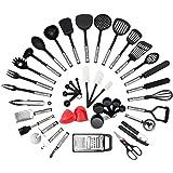 NEXGADGET Premium-42-Stücke Sets von Kochgeschirr mit Edelstahl und Nylon Kochen Tools einschließlich Löffel, Turners, Tongs, Schneebesen, Dosenöffner, Schäler, Schaber, Messbecher und Löffel