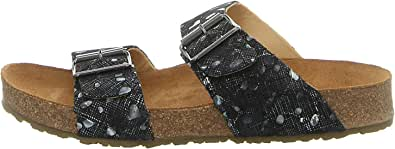 HAFLINGER 819016-0 Bio Andrea Ladies Leather Clogs