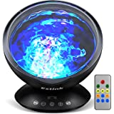 Ocean Wave projektor, baby natt ljus fjärrkontroll ledd projektor lampa, 7 färg byta musik spelare ljus show för barn vuxna s