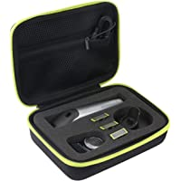 Khanka Dur Cas étui de Voyage Housse Porter pour Philips QP6510/30 OneBlade Pro(boîte seule)
