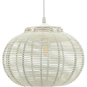 Lussiol Luminaire Suspension Korba En Rotin Diam 30 X H23 Cm