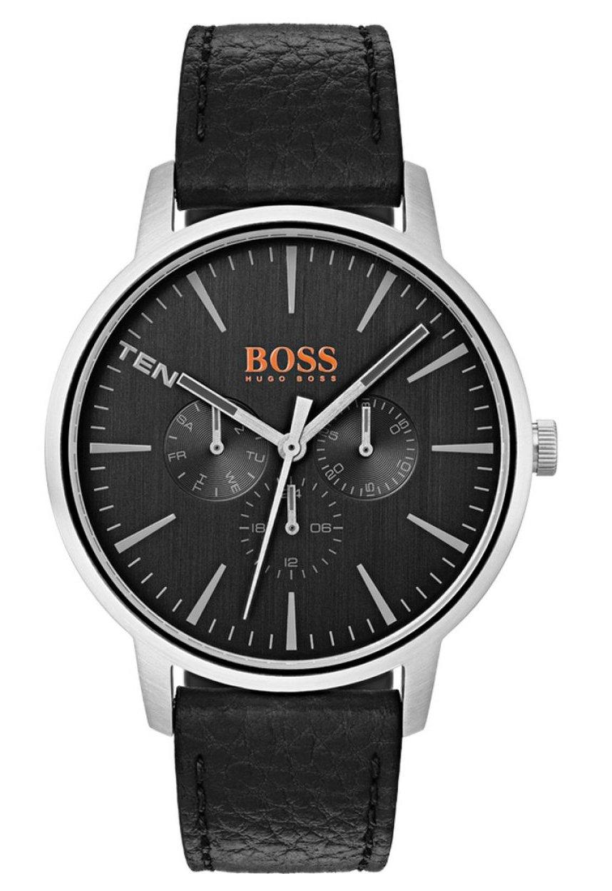 Hugo Boss Orange Reloj Multiesfera para Hombre de Cuarzo con Correa en Cuero 1550065