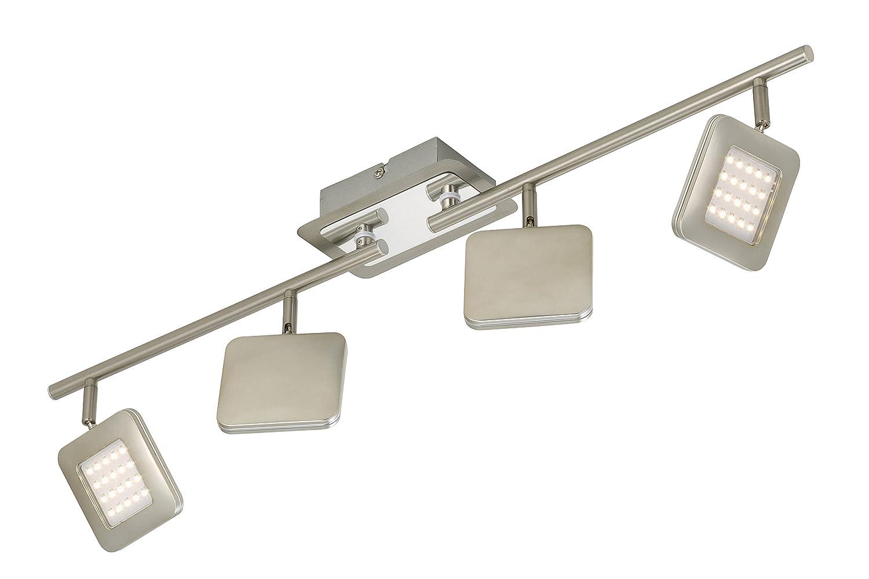 LED Deckenleuchte Deckenstrahler Spot 6 X Platine 45 Watt Strahler Dreh Und Schwenkbar Matt Nickel Amazonde Beleuchtung