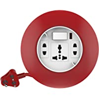 Goldmedal Curve Plus 205129 Plastic 240V G-Dial 3-Pin 4m Cable Extension Cords (White and Red)