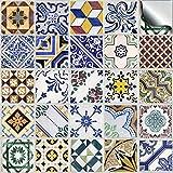24 stück Fliesenaufkleber für Küche und Bad (Tile Style Decals 24x TP 52 - 6