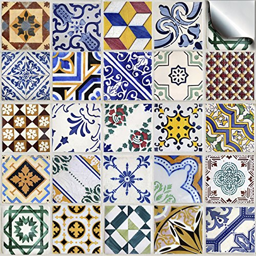 6-pack-of-24-various-traditional-wall-tile-stickers-for-150mm-6-inch-square-tiles-tp-52-simply-peel-