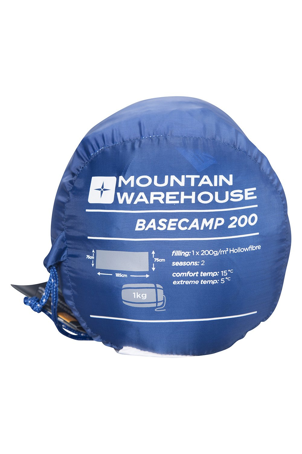 Mountain Warehouse Basecamp 200 Sleeping Bag - 2 Season Kids Camping Bag, Extreme Temperature Of 5C 1
