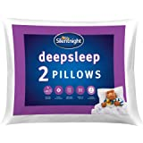 Silentnight Deep Sleep Pillow Pack of 2 - Soft Hotel Bed Pillows 2 Pack Pillow Pair - Machine Washable Hollowfibre Sleep Easy