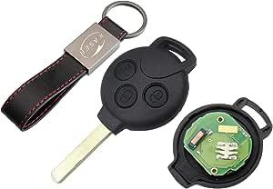 Schlüssel Fernbedienung Für Smart Mit Elektronische Karte Transponder 3 Tasten Für Fortwo 451 Coupe Roadster Crossblade
