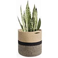 PartyStuff Handcrafted Woven Floral Pot Bag Natural Jute & Cotton Plant Bag for All Plants Home Room Hall Decor Indoor…