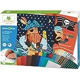 Mosaïques autocollantes pour enfants - 5 maxi tableaux Pirates - Loisir créatif - Stick & Fun - Dès 5 ans - Sycomore - CRE700