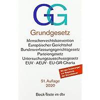 Grundgesetz GG: mit Menschenrechtskonvention, Verfahrensordnung des Europäischen Gerichtshofs für Menschenrechte…