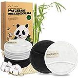 10Pcs Discos Desmaquillantes Reutilizables, Algodones Desmaquillantes Lavables y Ecologicos, Hechos de Bambú y Algodón para R
