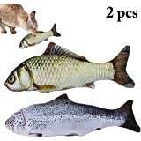 Outgeek 7.87in Pet Toy Fish Shape Bite Resistant Catnip Cat Toy Pet Chew Toy