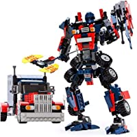 Prime Deals Optimus Prime Convert from Truck to Robot with 377 Logo Like Building Blocks Pieces (Multicolour)