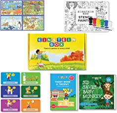 Einstein Box for 4, 5 and 6 Year Old Baby Boys and Girls, Learning and Educational Gift Pack of Toys and Books (Multicolor)