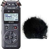 Tascam DR-05X Audio-Recorder mit Interface-Funktion + keepdrum Fell-Windschutz