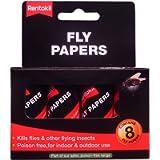 Decco Ltd Rentokil FF89 Pesticide Free Fly Paper (Pack of 8), Multi